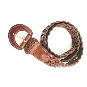 Braided Leather Belt Made in Turkey